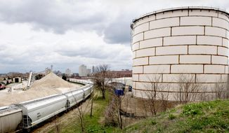 This Tuesday, April 4, 2017 photo shows, the thermal energy storage tank at the University of Nebraska-Lincoln's City Campus, in Lincoln, Neb. (Francis Gardler /The Journal-Star via AP)