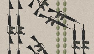 Arming the Terrorists Illustration by Greg Groesch/The Washington Times