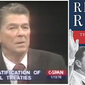 """Screen shot from C-SPAN video of 1978 """"Firing Line"""" debate over the Panama Canal Treaty. And book cover from Craig Shirley's recent release, Reagan Rising."""