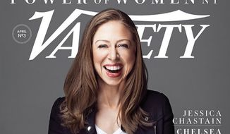 """Chelsea Clinton appears on the Variety magazine's """"Power of Women"""" issue for April 2017. (Twitter, Claudia Eller, Variety Co-Editor-in-Chief)"""