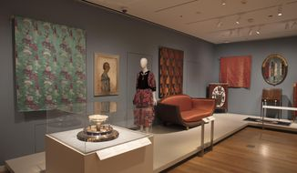 """This undated photo provided by the Cooper Hewitt, Smithsonian Design Museum, shows an Installation view of """"The Jazz Age: American Style in the 1920s."""" (Matt Flynn/Cooper Hewitt, Smithsonian Design Museum via AP)"""