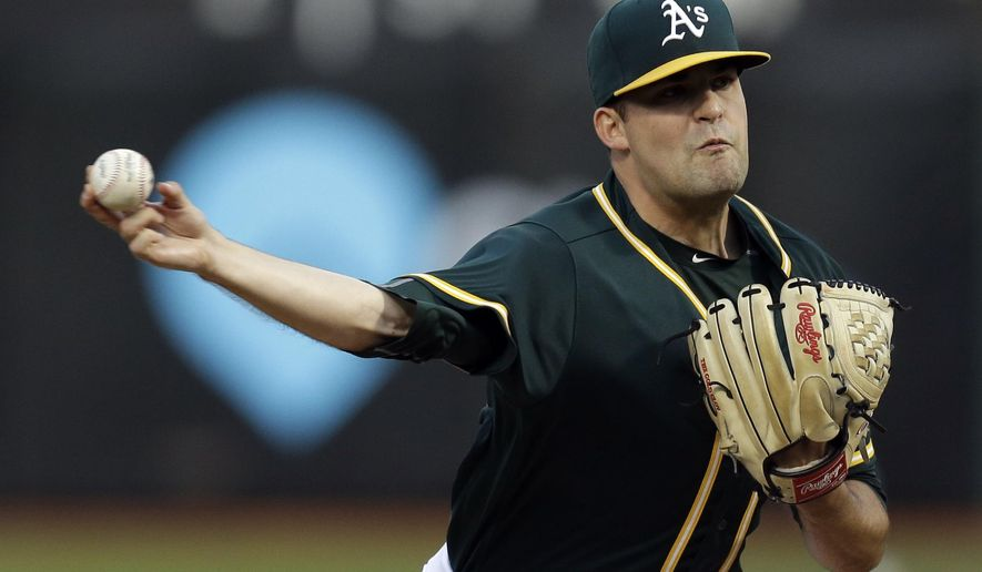 Oakland athletics pitcher andrew triggs works against the for 77 salon oakland