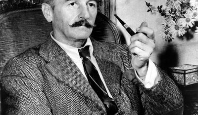 FILE - This 1950 file photo shows American novelist William Faulkner at his home in Rowan Oaks near Oxford, Miss. (AP Photo, File)