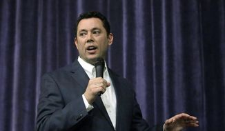 Rep. Jason Chaffetz, R-Utah, speaks during a town hall meeting at Brighton High School in Cottonwood Heights, Utah, in this Feb. 9, 2017, file photo. (AP Photo/Rick Bowmer, File)