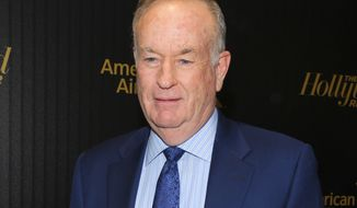 "Bill O'Reilly attends The Hollywood Reporter's ""35 Most Powerful People in Media"" celebration at the Four Seasons Restaurant in New York on April 6, 2016,. (Andy Kropa/Invision/Associated Press) **FILE**"