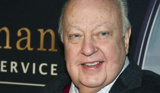 "In this Feb. 9, 2015, file photo, Roger Ailes attends a special screening of ""Kingsman: The Secret Service"" in New York. (Photo by Charles Sykes/Invision/AP, File)"