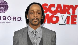 """FILE - In this April 11, 2013 file photo, Katt Williams, a cast member in """"Scary Movie V,"""" poses at the Los Angeles premiere of the film at the Cinerama Dome in Los Angeles. On Monday, April 17, 2017, Williams was sentenced to three years of probation after pleading no contest and will have to attend anger management classes for stealing a celebrity photographer's camera. In September 2014, a celebrity photographer accused Williams and former rap music mogul Marion """"Suge"""" Knight of stealing her camera. The photographer said she suffered a concussion after an associate of the men attacked her.. (Photo by Chris Pizzello/Invision/AP, File)"""
