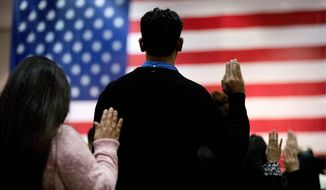 Naturalization ceremonies have been canceled because of a backlog of applications at U.S. Citizenship and Immigration Services. (Associated Press)