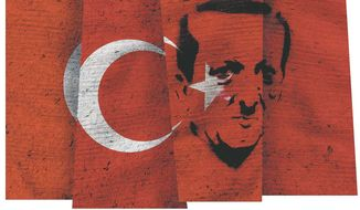 Constitutional Change in Turkey Illustration by Greg Groesch/The Washington Times