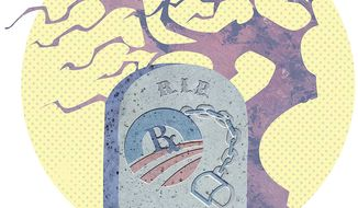The Death of Obamacare Illustration by Greg Groesch/The Washington Times
