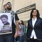 Rasmea Odeh (right) admitted to lying on her U.S. visa application about her criminal record, including a conviction for bombings in Israel in the 1960s. For the admission, she will get no jail time but be deported. (Associated Press)