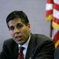Judge Amul Thapar, President's Trump nominee for an appeals court vacancy, was taken to task by Democrats in his confirmation hearing over his considering campaign contributions to be political speech. (Associated Press)