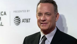 """Tom Hanks attends """"The Circle"""" premiere during the 2017 Tribeca Film Festival on Wednesday, April 26, 2017, in New York. (Photo by Charles Sykes/Invision/AP)"""