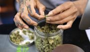 In this April 15, 2017, file photo a budtender weighs out marijuana for a customers at ShowGrow, a medical marijuana dispensary in downtown Los Angeles. (AP Photo/Richard Vogel, File)
