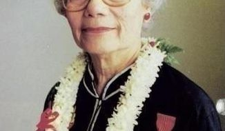 This June 16, 2016 photo provided by the United States Coast Guard shows Florence Ebersole Smith Finch. Finch, who joined the U.S. Coast Guard after surviving months of torture by the Japanese for helping Filipino guerrillas during World War II, will be buried with full military honors on Saturday, April 29, 2017, in Ithaca, N.Y. She died in December 2016 at age 101. (United States Coast Guard via AP)