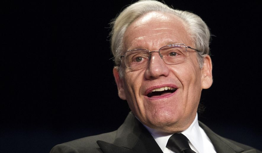 Journalist Bob Woodward sits at the head table during the White House Correspondents' Dinner in Washington, Saturday, April 29, 2017. (AP Photo/Cliff Owen) ** FILE **