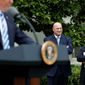 Director of the White House National Economic Council Gary Cohn (left) and White House Chief of Staff Reince Priebus predicted Monday the bill to repeal Obamacare would hit the House floor for a vote before lawmakers leave town late Thursday for a weeklong recess. (Associated Press photographs)