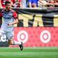 DC Forward Sebastien Le Toux (11) during the MLS soccer game between DC United and Atlanta United at Bobby Dodd Stadium on Sunday April 30, 2017 in Atlanta, GA. Jacob Kupferman/CSM (Cal Sport Media via AP Images)