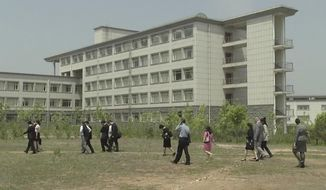 The Pyongyang University of Science and Technology was where Americans Kim Hak-song and Tony Kim were working before their recent arrests in North Korea. (Associated Press/File)