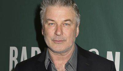 "FILE - In this Tuesday, April 4, 2017 file photo, actor and author Alec Baldwin appears at Barnes & Noble Union Square to sign copies of his new book, ""Nevertheless: A Memoir,"" in New York. Baldwin welcomes the chance to share the screen with President Donald Trump on ""Saturday Night Live."" ""I think if he came it would be a great show,"" Baldwin said in an interview Wednesday, May 3, 2017. (Photo by Greg Allen/Invision/AP, File)"