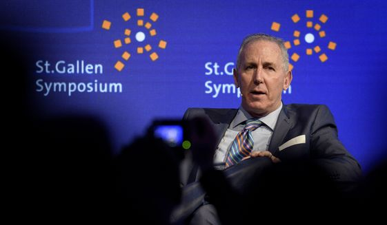 """Tony Schwartz, ghostwriter of Donald Trump's """"The Art of the Deal"""" and chief executive officer of """"The Energy Project,"""" attends the St. Gallen Symposium, a platform for dialogue on key issues in management, the entrepreneurial environment and the interfaces between business, politics and civil society, at the university of St. Gallen, Switzerland, on Friday, May 5, 2017. (Gian Ehrenzeller/Keystone via AP) ** FILE **"""