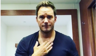 Chris Pratt from a May 2017 Instagram video screen capture. In this video Mr. Pratt was apologizing to deaf fans for offense he caused in a previous video in which he chided folks who watch his videos muted while reading subtitles, instead of turning the sound on. (Instagram)