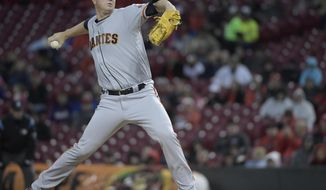 San Francisco Giants pitcher Matt Cain throws against the Cincinnati Reds during the first inning of a baseball game Friday, May 5, 2017, in Cincinnati. (AP Photo/Michael E. Keating)