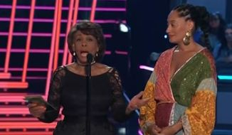 "Rep. Maxine Waters received a standing ovation before presenting the ""Best Fight Against the System"" award at the MTV Movie & TV Awards Sunday night. (MTV)"