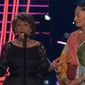 """Rep. Maxine Waters received a standing ovation before presenting the """"Best Fight Against the System"""" award at the MTV Movie & TV Awards Sunday night. (MTV)"""