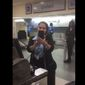 United Airlines is apologizing for an incident caught on video in which a New Orleans ticket counter agent is seen scolding a San Francisco man for videotaping her. (Twitter/@Navang25)
