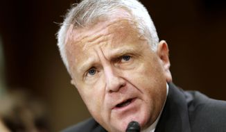 Deputy Secretary of State-designate John Sullivan testifies on Capitol Hill in Washington, Tuesday, May 9, 2017, at his confirmation hearing before the Senate Foreign Relations Committee. (AP Photo/Jacquelyn Martin)