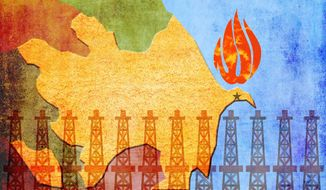 Azerbaijan Secure Energy Source Illustration by Greg Groesch/The Washington Times