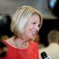 Omaha Mayor Jean Stothert, a Republican, celebrated her defeat over challenger Heath Mello. The Nebraska race has drawn national attention as Democrats seek new energy given huge Republican gains in local, state and federal offices across the country. (Associated Press)