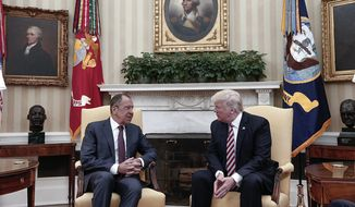 President Trump met last week with Russian Foreign Minister Sergey Lavrov in the Oval Office. Legal analysts say the president is the one U.S. official with the authority to declassify nearly anything he wants, whenever he wants to do it. (Associated Press)