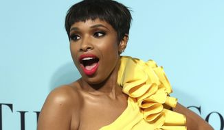 """FILE - In this April 21, 2017, file photo, Jennifer Hudson attends Tiffany & Co. 2017 Blue Book Collection Celebration at St. Ann's Warehouse in New York. NBC announced on May 10, 2017, that Hudson would serve as a coach on the upcoming fall season of """"The Voice."""" (Photo by Greg Allen/Invision/AP, File)"""