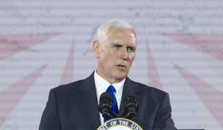 Vice President Mike Pence speaks in Washington on May 11, 2017. (Associated Press) **FILE**
