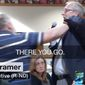 Two men who got into a heated confrontation during a North Dakota town hall for Republican Rep. Kevin Cramer had to be escorted from the event Thursday afternoon. (KXMB via CNN)