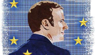 Macron and the Future of the European Union Illustration by Greg Groesch/The Washington Times