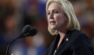 Sen. Kirsten Gillibrand is one of many high profile Democrats attending a progressive ideas summit. (AP Photo/Paul Sancya)