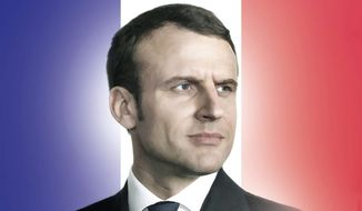 Illustration of Emmanuel Macron by M. Ryder/Tribune Content Agency