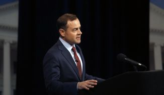 Former U.S. Rep. Tom Perriello responds to a moderator during a Democratic debate with Lt. Gov. Ralph Northam, Tuesday, May 16, 2017, at WHRO-TV in Norfolk, Va. (Stephen M. Katz/The Virginian-Pilot via AP) ** FILE **