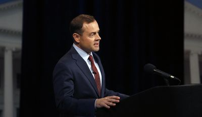 Former U.S. Rep. Tom Perriello responds to a moderator during a Democratic debate with Lt. Gov. Ralph Northam, Tuesday, May 16, 2017 at WHRO-TV in Norfolk, Va. (Stephen M. Katz/The Virginian-Pilot via AP)
