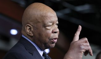 Rep. Elijah Cummings, D-Md., ranking member on the House Oversight and Government Reform Committee, speaks during a news conference on Capitol Hill in Washington, Wednesday, May 17, 2017. (AP Photo/Alex Brandon)