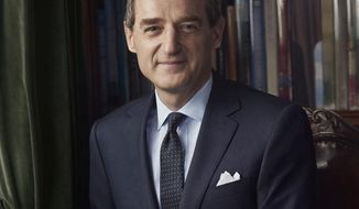 This photo provided by Ralph Lauren shows new company CEO Patrice Louvet. Ralph Lauren Corp. is tapping Procter & Gamble executive Patrice Louvet as its next CEO as the fashion brand seeks to turn its business around. Louvet was president of Procter & Gamble's beauty brands, which includes Pantene shampoo and Olay anti-wrinkle cream. He is replacing Stefan Larsson, who announced in February 2017 that he would leave the New York-based company after less than two years in the job. (Courtesy of Richard Phibbs/Ralph Lauren via AP)