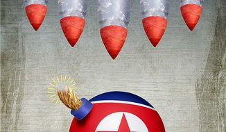 Coordinated Preemptive Korea Attack Illustration by Greg Groesch/The Washington Times