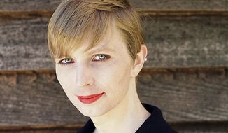 This undated photo provided by Army Pvt. Chelsea Manning shows a portrait of her that she posted on her Instagram account on Thursday, May 18, 2017. Manning, the transgender soldier formerly known as Bradley Manning, revealed her new look after being freed from a Kansas military prison and a 35-year sentence for leaking classified materials. (Tim Travers Hawkins/Courtesy of Chelsea Manning via AP)