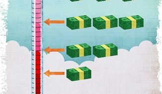 Higher Temperature Readings Equal More Money Illustration by Greg Groesch/The Washington Times