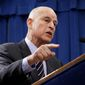 "California Gov. Jerry Brown called opponents of instate gas price increases ""freeloaders,"" which has been pounced on by the state GOP. (Associated Press)"