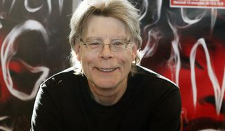 Author Stephen King poses for the cameras, during a promotional tour in Paris, in this Nov. 13, 2013 file photo.  King wrote on Twitter on May 23, 2017, that Islamic State is a rogue cult and that the groups bombings will eventually lead to its undoing. (AP Photo/Francois Mori) ** FILE **