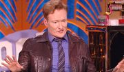 """Comedian Conan O'Brien was asked on Tuesday if CBS """"Late Show"""" host Stephen Colbert has gone too far with his jokes aimed at President Donald Trump. (YouTube, """"Watch What Happens Live"""" screenshot)"""